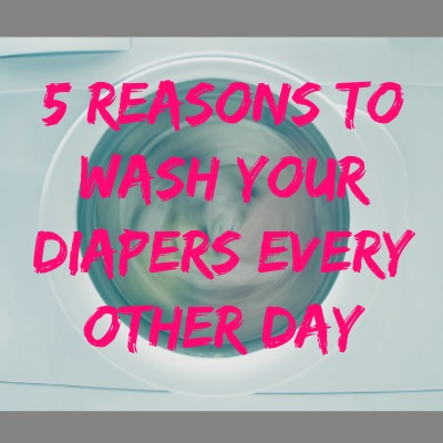 5 Reasons To Wash Your Diapers Every Other Day