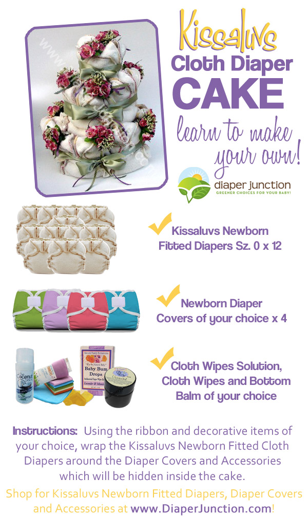 cloth diaper cakes,diy diaper cake