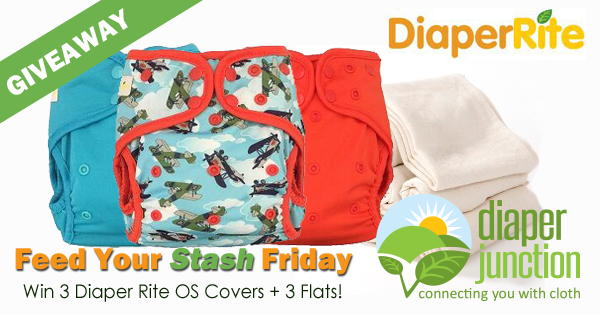 6/30/17 FYSF, Win a Set of THREE Diaper Rite OS Covers & Bamboo Flats!