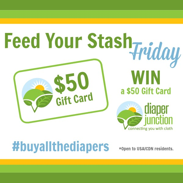 WIN a $50 Gift Certificate to Diaper Junction in our Feed Your Stash Friday Giveaway