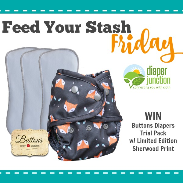 WIN Buttons Shewood Trial Pack from Diaper Junction in our Feed Your Stash Friday Giveaway