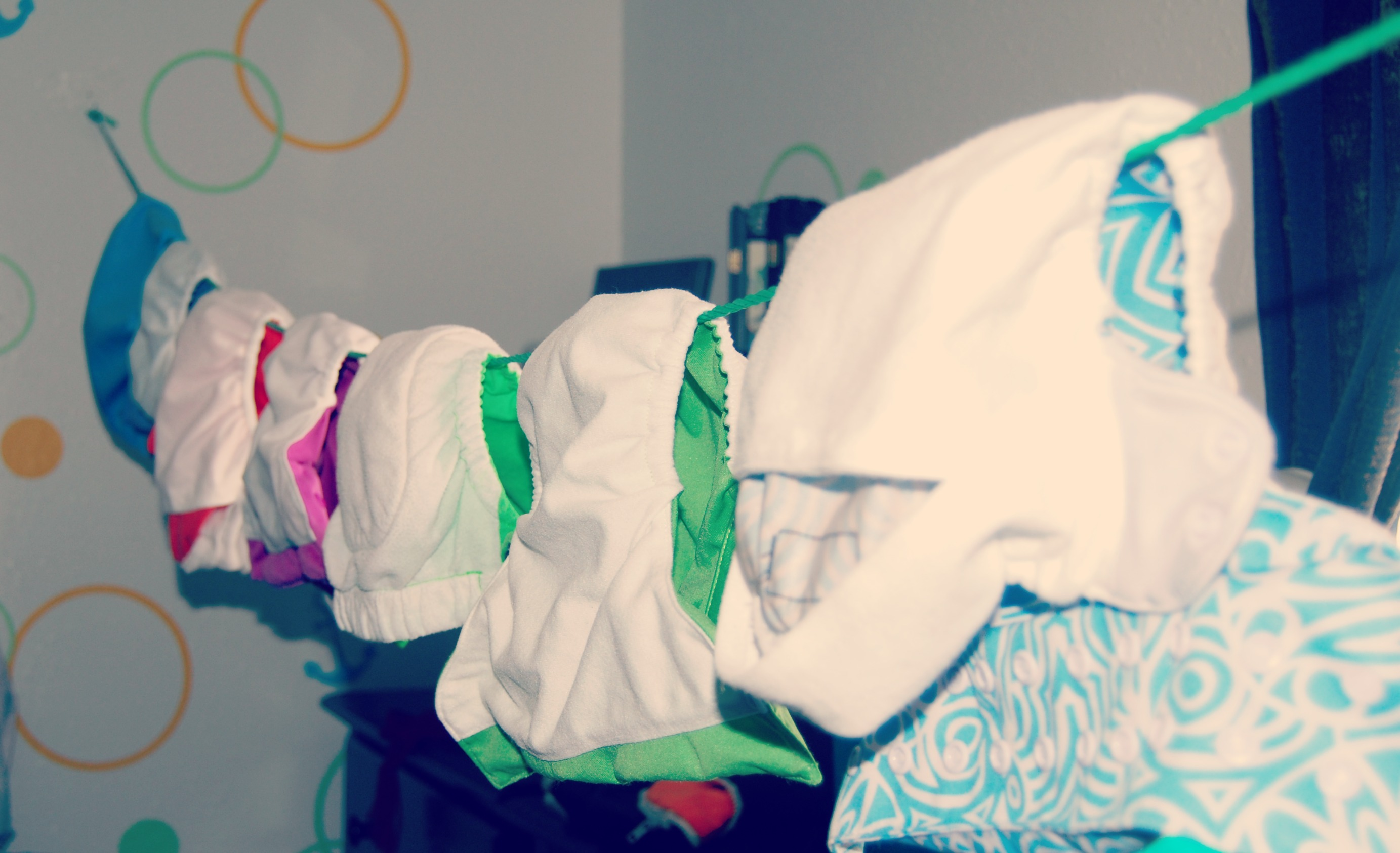 DIY Indoor Clothesline for your cloth diapers!