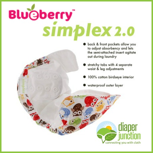 Blueberry Simplex 2.0 Side Snapping Diaper Features