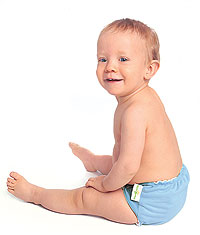 Infant prefold cloth diapers