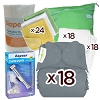 bumGenius 5.0 One Size Pocket Diaper Deluxe Package