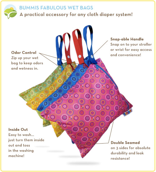Bummis Fabulous Wet Bag Features
