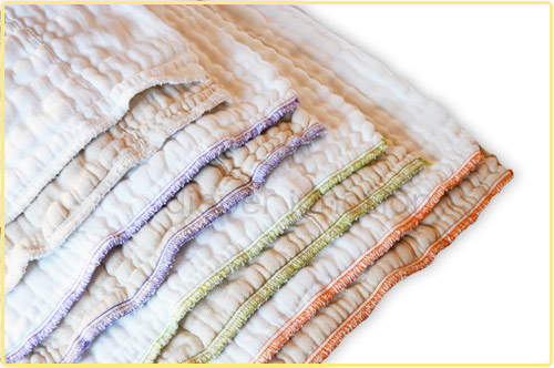 Diaper Rite Prefolds fit perfectly in most Cloth Diaper Wraps