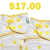 *SITE BUSTER: Sweet Pea One Size Bamboo Fitted Diaper