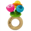 Green Sprouts Wooden Flower Rattle