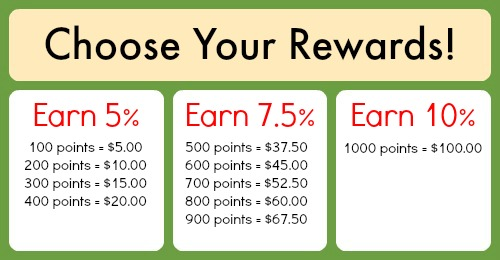 Stash Cash Redemption Values