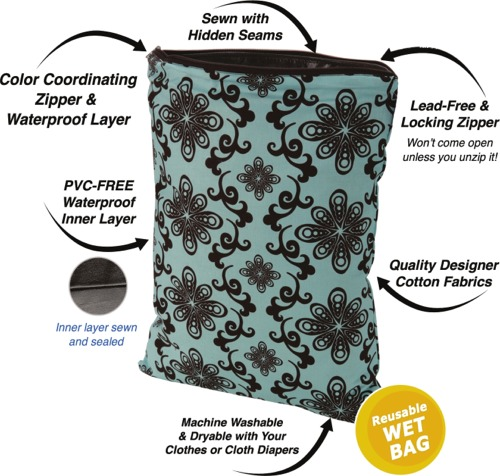 Planet Wise Wet Bags - Reusable Diaper Tote - Diaper Junction