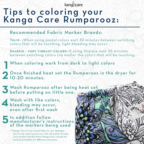 Tips For Coloring YOUR Rumparooz Diapers