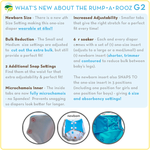 What's New with Rumparooz One Size Diapers
