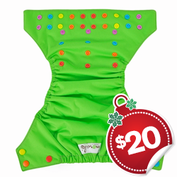 *SITE BUSTER: Moraki One Size AI2 Diaper - Candy Snap