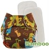 Blueberry One Size BAMBOO Deluxe Pocket Diaper