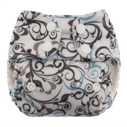 Blueberry Mini Deluxe Pocket Diaper