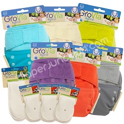 "GroVia One Size Cloth Diaper ""HALF-TIME"" Package"