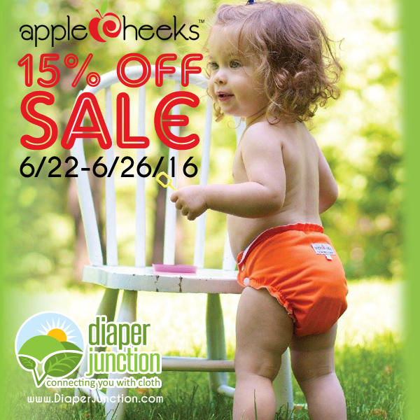 AppleCheeks Cloth Diapers & Accessories 15% OFF!