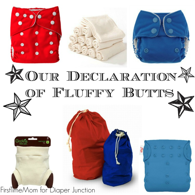 cloth diapers,fluff,4th of july
