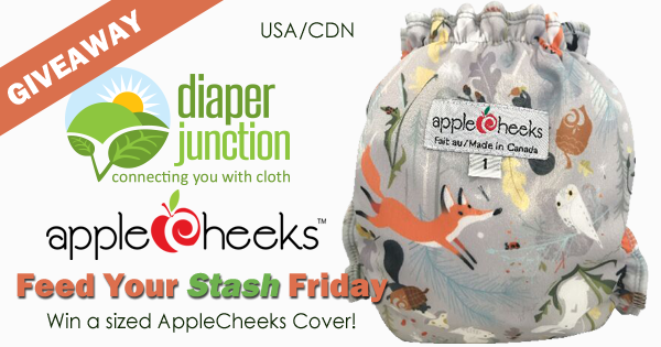 12/22/17 FYSF, Win a sized AppleCheeks Cloth Diapers Cover!