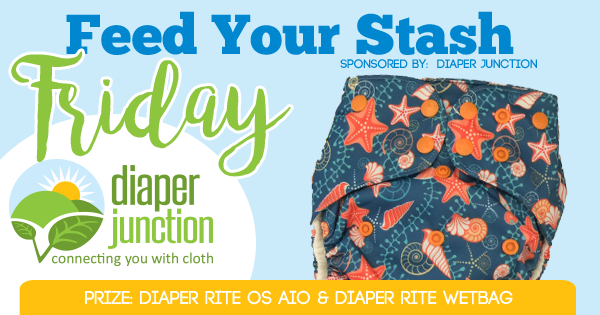 7/14/17 FYSF, Win a NEW Diaper Rite AIO Cloth Diaper & Wetbag!