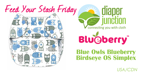 6/22/18 FYSF, Win a Blueberry Blue Owls OS Simplex Cloth Diaper!