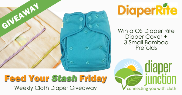 8/3/18 FYSF, Win a Diaper Rite Cover & 3 Small Bamboo Prefolds!