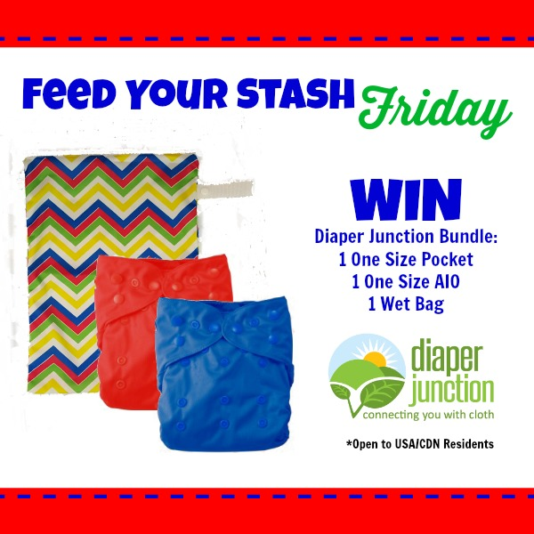 WIN a Diaper Junction Cloth Diaper Bundle in our Feed Your Stash Friday Giveaway