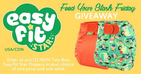 4/1/16 FYSF, Win (2) Tots Bots Easy Fit Star Cloth Diapers!