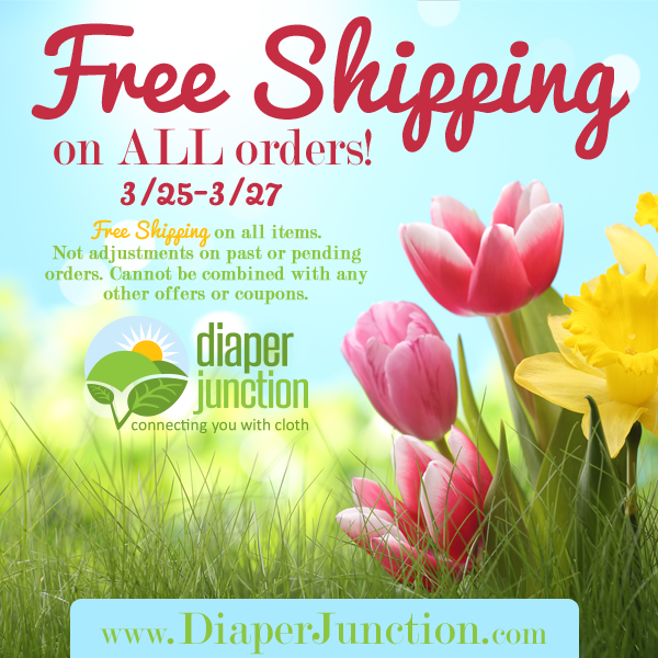 Free Shipping on ALL orders 3/25-3/27 at DiaperJunction.com