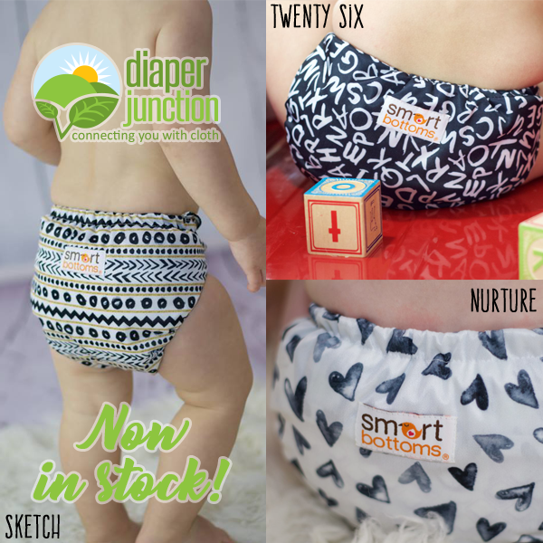 Meet Smart Bottoms NEW Prints, Sketch, Twenty-Six & Nurture!