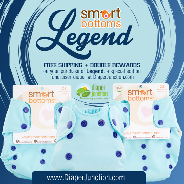 DOUBLE POINTS + FREE SHIPPING on Smart Bottoms Legend Diapers!