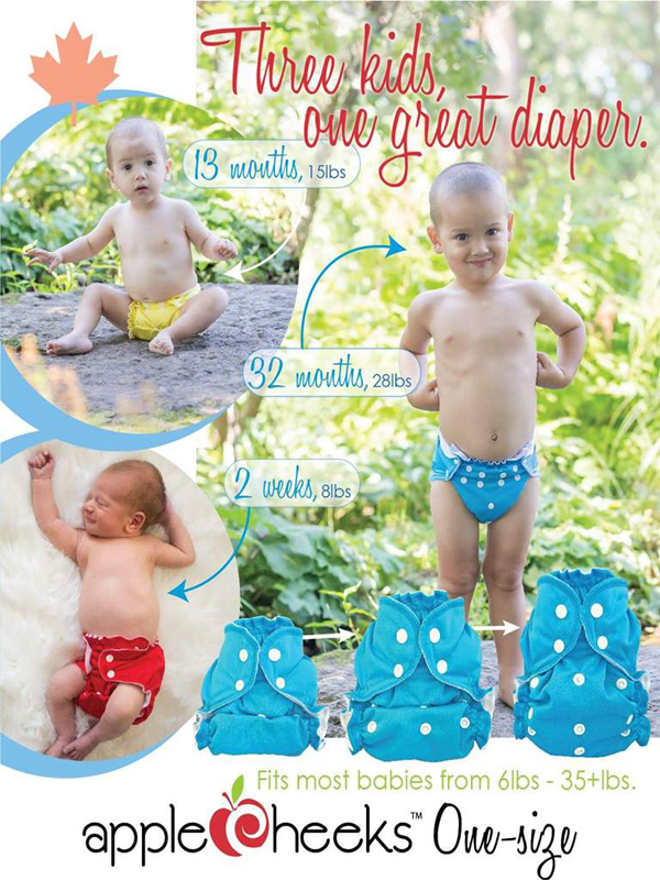 NEW Apple Cheeks One Size Diapers are here!