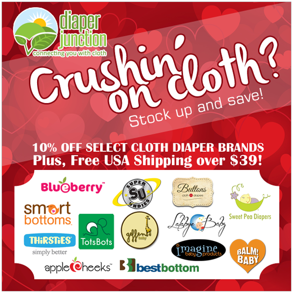 Crushin' on Cloth Diapers? Save 10% off some of our most popular brands!