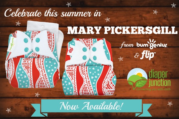bumGenius Limited Edition Mary Pickersgill print available now at Diaper Junction!