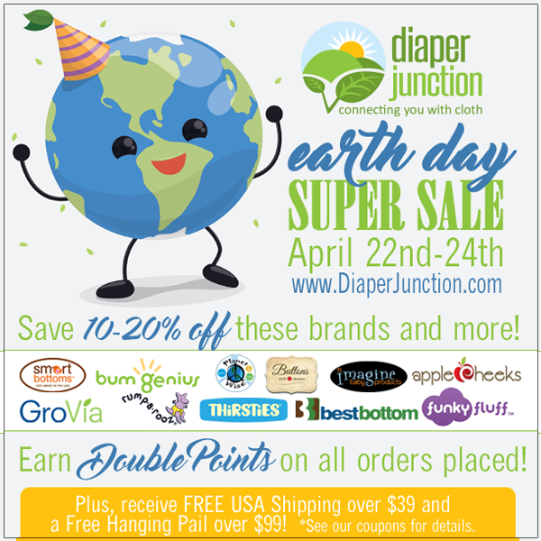 Earth Day Savings:  Double Points, Free Shipping, Up to 20% off and more!
