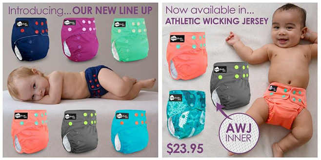 New Colors and New Options from Funky Fluff Cloth Diapers!