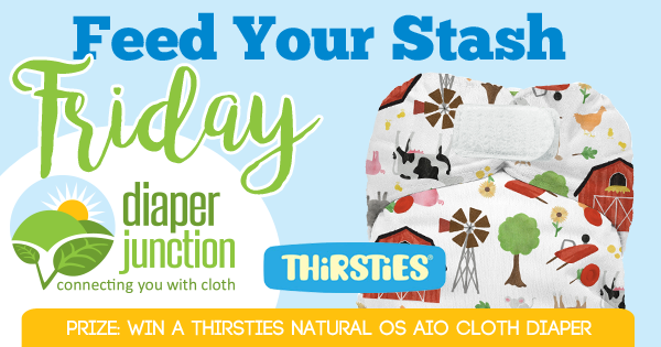 9/22/17 FYSF, Win a Thirsties Natural OS AIO Cloth Diaper!