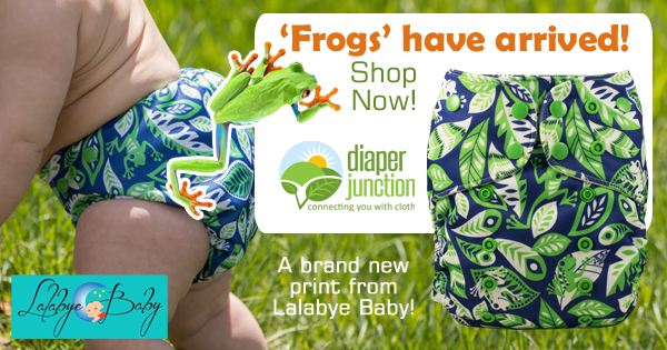 New 'Frogs' print cloth diapers from Lalabye Baby now in-stock!