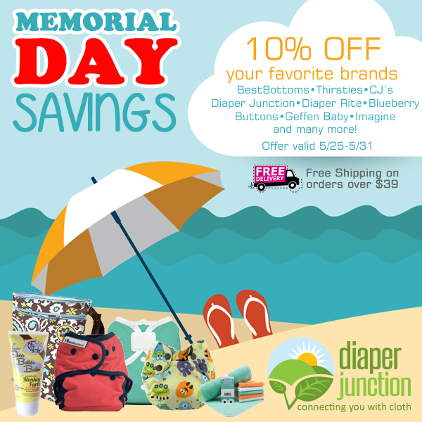 Memorial Day Savings -  Save 10% off through May 31st!