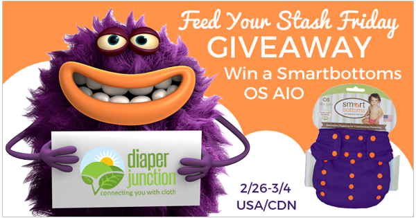 2/26/16 FYSF, Win a Smart Bottoms OS AIO Cloth Diaper!