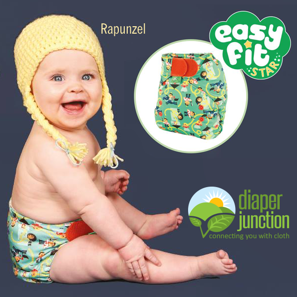 New Tots Bots Easy Fit Star, A Stuff and Go All In One Cloth Diaper!