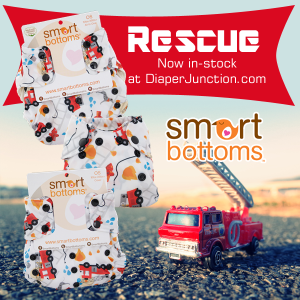 Smartbottoms NEW Rescue print cloth diaper has just stocked!
