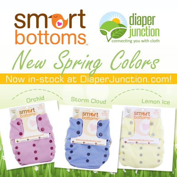 Now in stock!  New Spring Colors from Smart Bottoms