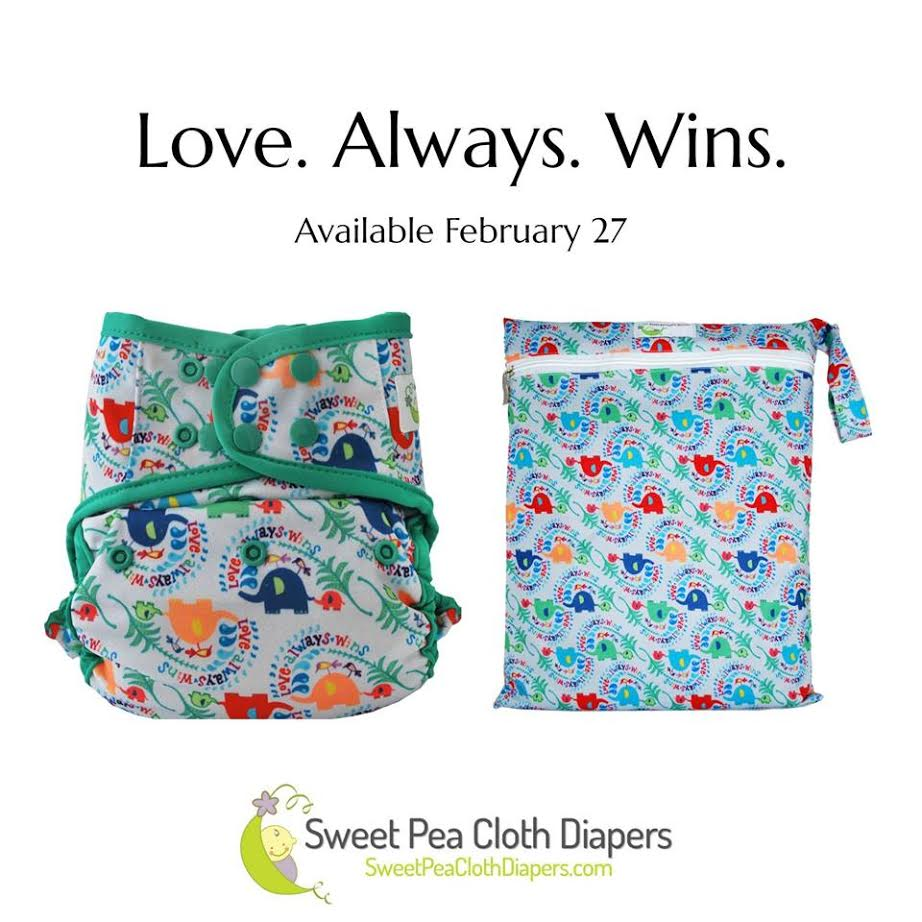 sweet pea diapers, love always wins