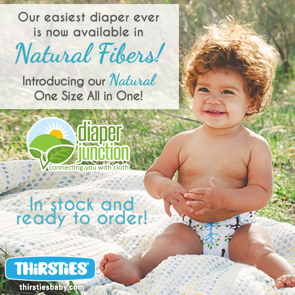 Just socked!  Thirsties NEW Natural OS AIO Cloth Diaper