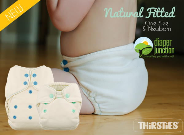 Thirsties NEW Natural Fitted Cloth Diapers just stocked!