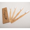Mariposah Adult Bamboo Toothbrush 4-Pack