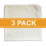 Diaper Rite Bamboo Terry Flat Diapers - 3 PACK