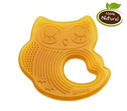 Haakaa Sleeping Owl Natural Rubber Teether